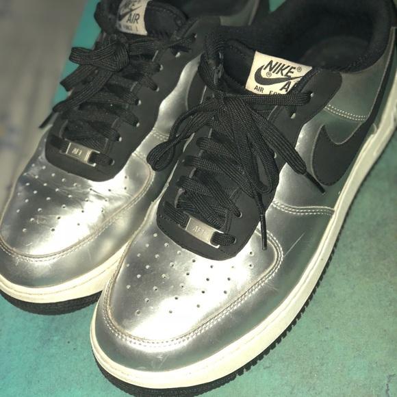 air force 1 metallic silver